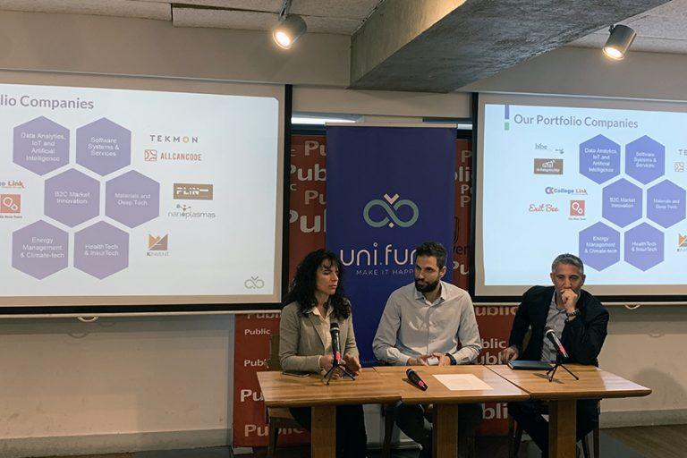 Το Uni.Fund επενδύει 850.000 ευρώ σε τρεις νέες startups