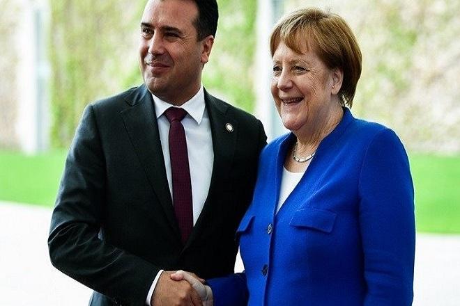 Μέρκελ-Ζάεφ: Η Συμφωνία των Πρεσπών αποτελεί θετικό παράδειγμα για την περιοχή των Βαλκανίων
