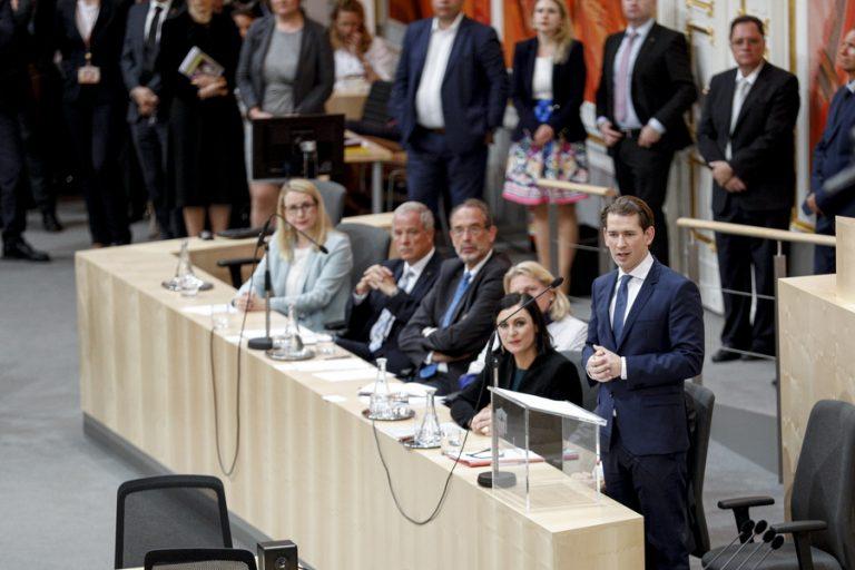 Αυστρία: Ανατροπή της κυβέρνησης του Σεμπάστιαν Κουρτς αποφάσισε η πλειοψηφία της βουλής