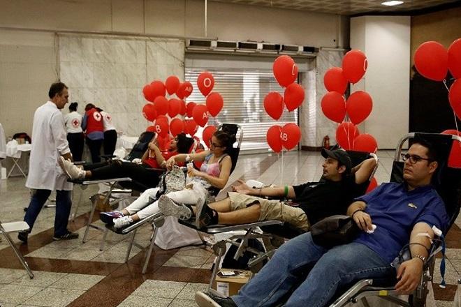 Η εθελοντική αιμοδοσία αυξήθηκε την περίοδο της κρίσης στην Ελλάδα