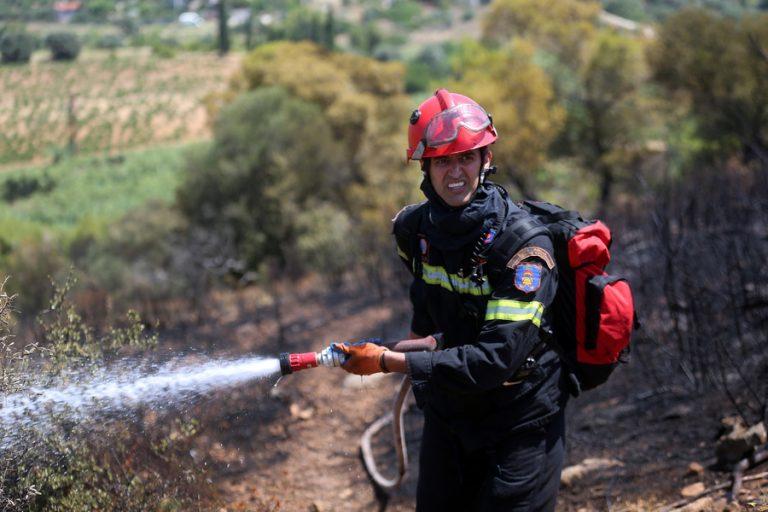 Σε εξέλιξη πυρκαγιά στην Αρτέμιδα Αττικής