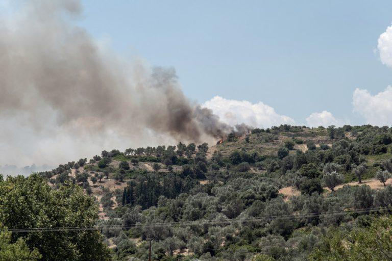 Σε ύφεση η φωτιά στην Εύβοια- Εξασθένησαν οι άνεμοι
