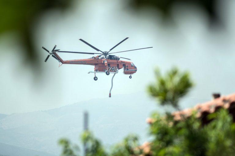 Μάχη με τις φλόγες συνεχίζει να δίνει η Πυροσβεστική στην Εύβοια – Διαρκείς αναζωπυρώσεις λόγω των ισχυρών ανέμων