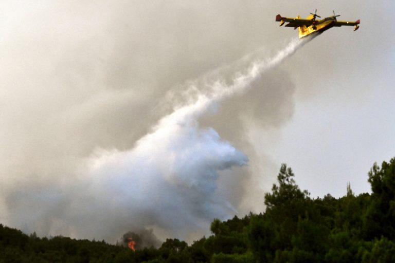 Μάχη με τις πολλές εστίες και αναζωπυρώσεις δίνει η Πυροσβεστική στο Λουτράκι