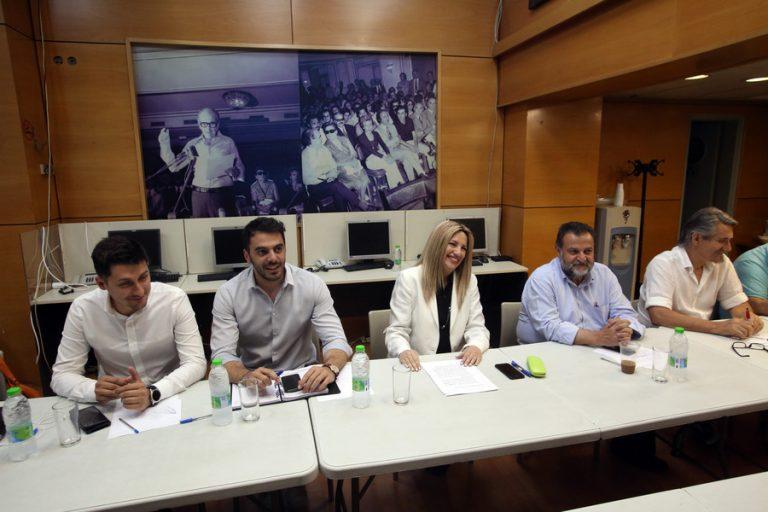 Προγραμματικές και πολιτικές πρωτοβουλίες στο ΚΙΝΑΛ εξήγγειλε η Φώφη Γεννηματά