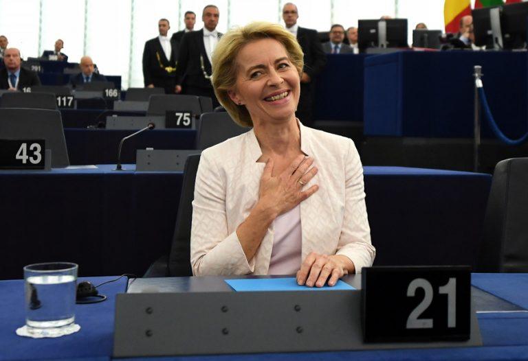 Η Ούρσουλα φον ντερ Λάιεν εξελέγη νέα πρόεδρος της Ευρωπαϊκής Επιτροπής