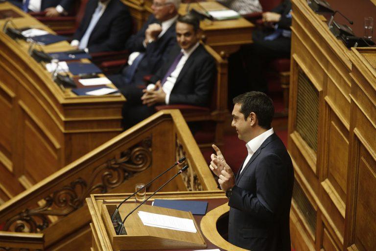 Τσίπρας προς Μητσοτάκη: Θα φέρετε νέα μέτρα λιτότητας ύψους 2,5 με 3 δισ. ευρώ για το 2020;