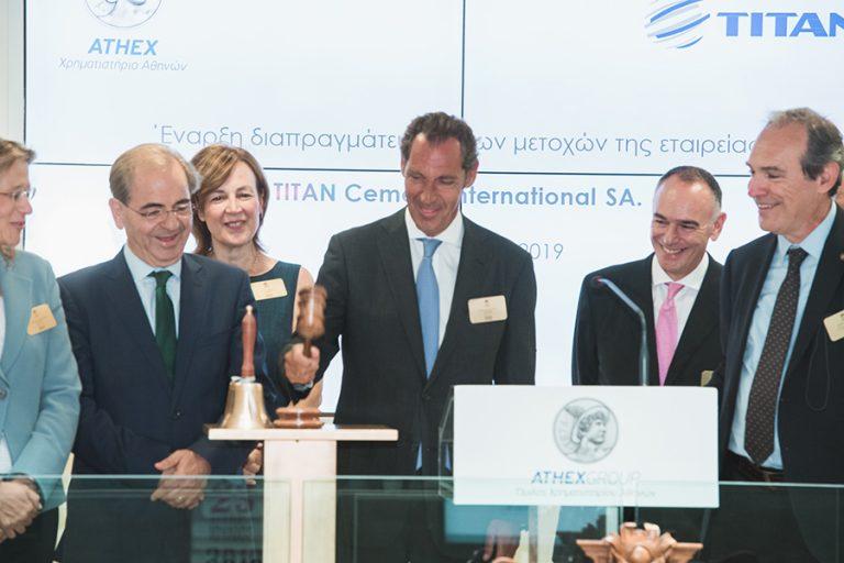 «Πρεμιέρα» σήμερα για τις μετοχές της Titan Cement σε Euronext Βρυξελλών, Χρηματιστήριο Αθηνών και Euronext Παρισίων