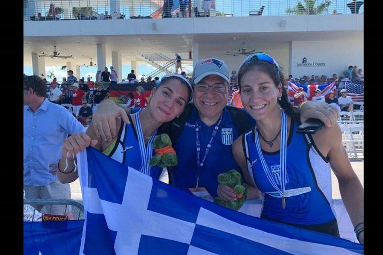 «Χρυσές» οι Κυρίδου – Τσαμοπούλου στο παγκόσμιο κωπηλασίας U23