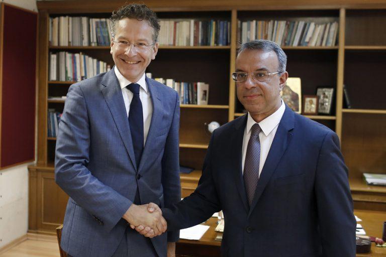 Ολοκληρώθηκε η συνάντηση Σταϊκούρα- Ντάισελμπλουμ για την κούρσα διαδοχής στο ΔΝΤ