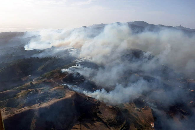 Στο έλεος των πυρκαγιών το Γκραν Κανάρια – Για περιβαλλοντική τραγωδία κάνουν λόγο οι αρχές της Ισπανίας