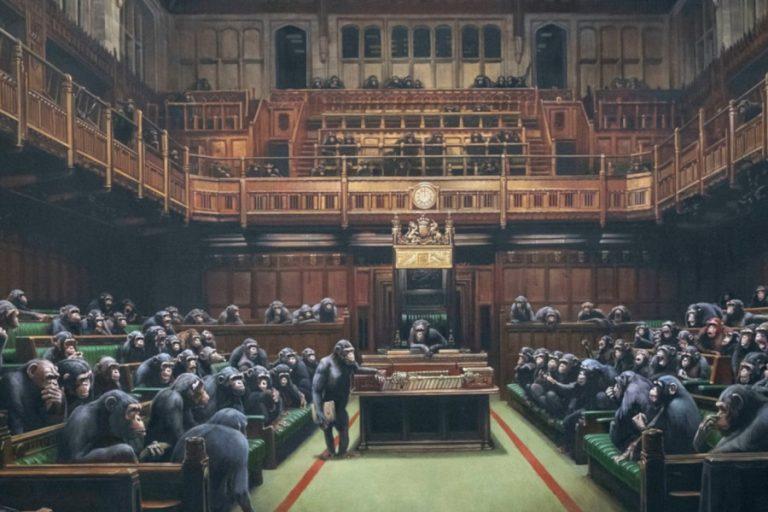 Στο «σφυρί» αιρετικός πίνακας του Βanksy μια «ανάσα» πριν το Brexit