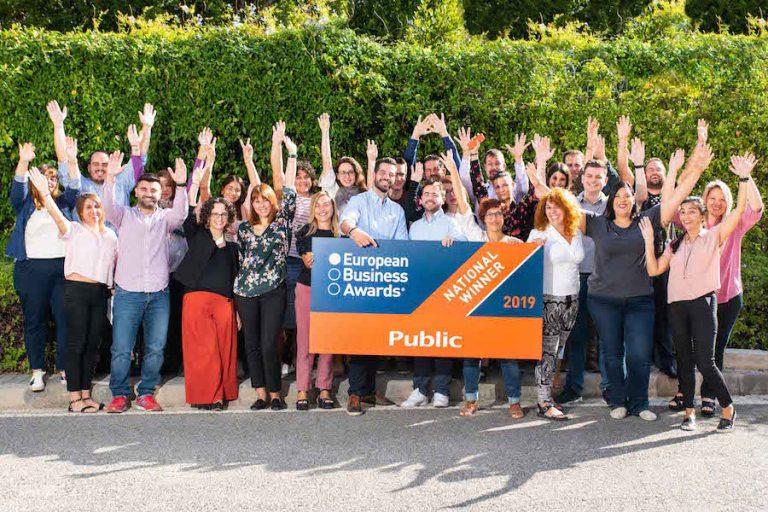 Πανευρωπαϊκή διάκριση για το Public στα European Business Awards 2019
