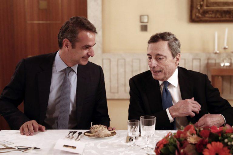 Τι είπαν Μάριο Ντράγκι και Κυριάκος Μητσοτάκης για την επόμενη μέρα της ελληνικής οικονομίας