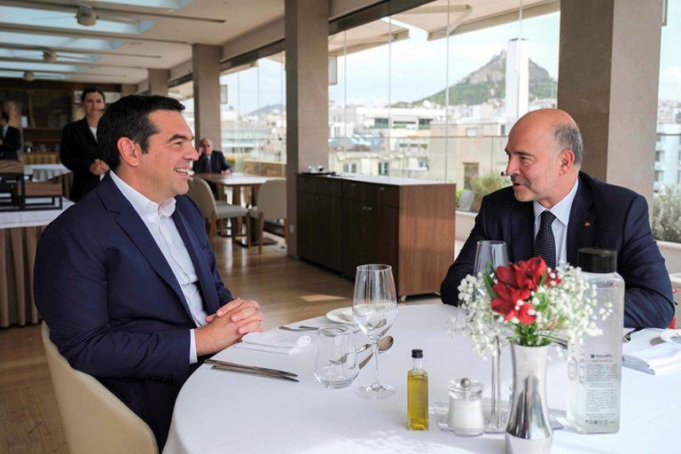 Τι είπαν Τσίπρας – Μοσκοβισί για το μέλλον της ελληνικής οικονομίας
