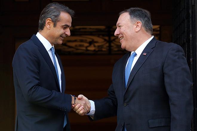 Τη συμβολή των ΗΠΑ στην αντιμετώπιση της τουρκικής προκλητικότητας ζήτησε ο Κυριάκος Μητσοτάκης από τον Μάικ Πομπέο