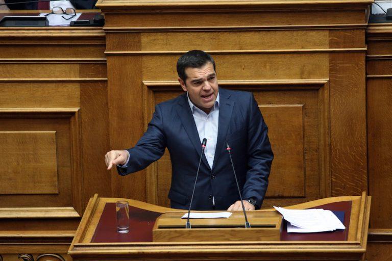 Τσίπρας: Αναθεώρηση-παρωδία η διαδικασία, με αποκλειστική ευθύνη των βουλευτών της πλειοψηφίας