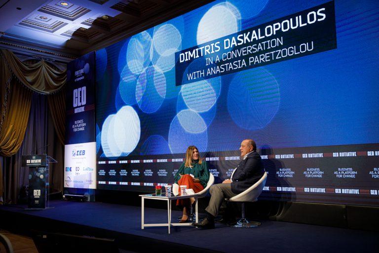 Δημήτρης Δασκαλόπουλος στο CEO Initiative: «Βασικό εργαλείο οι επιχειρήσεις για την αλλαγή στην κοινωνία»