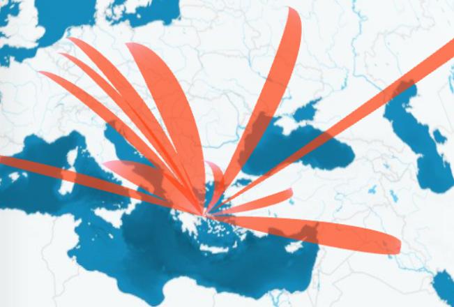 Διαδραστικός χάρτης: Δείτε που φτάνουν τα ελληνικά προϊόντα με ένα κλικ
