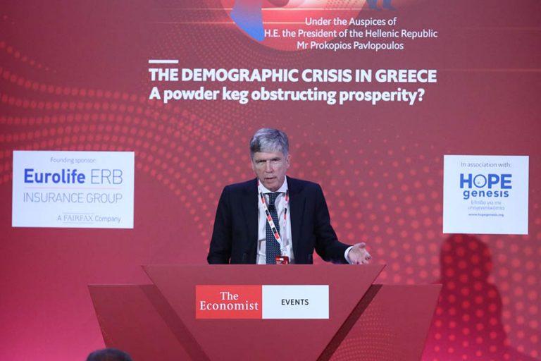 Η Eurolife ERB στο συνέδριο του Economist για τη δημογραφική κρίση στην Ελλάδα