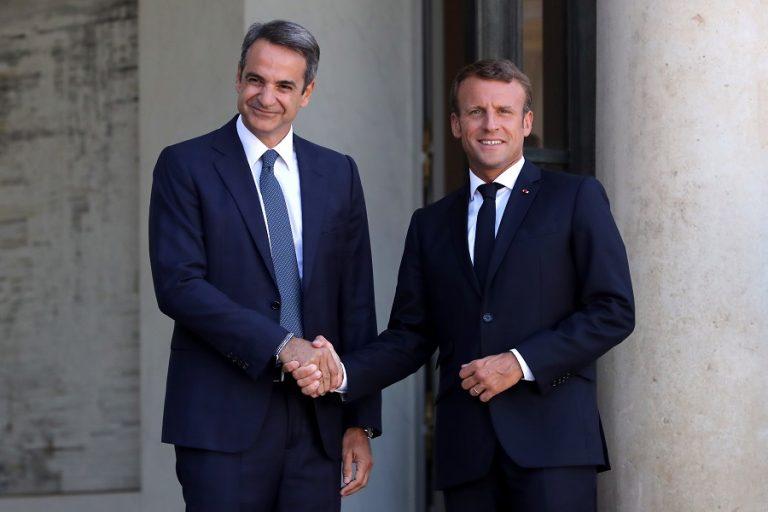 Μακρόν και Μητσοτάκης μίλησαν για τις εξελίξεις στην Αν. Μεσόγειο – Κοινό μέτωπο Ελλάδας Γαλλίας έναντι των προκλήσεων της Τουρκίας