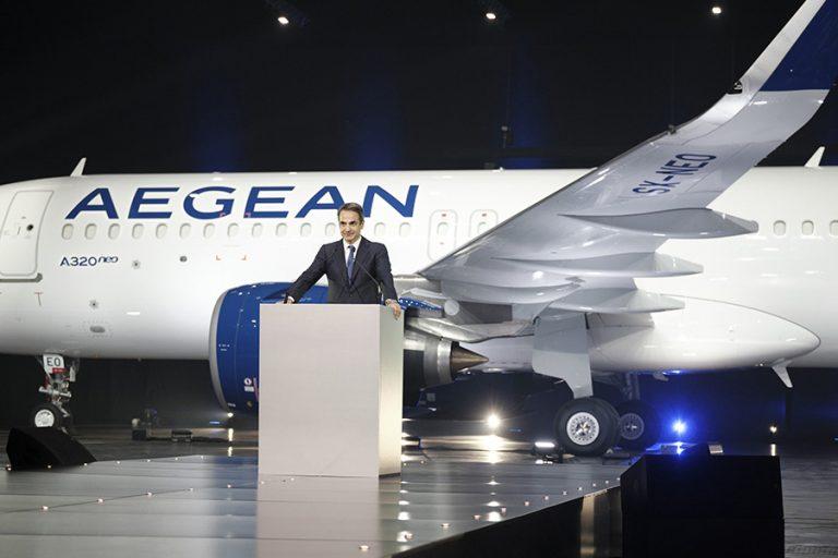 Μητσοτάκης για Aegean Airlines: Φωτεινή μέρα για την εθνική οικονομία