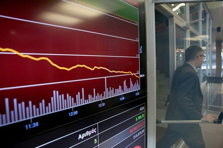 Χρηματιστήριο: Εβδομαδιαία πτώση 4,36%, απώλειες 12,95% στις τράπεζες