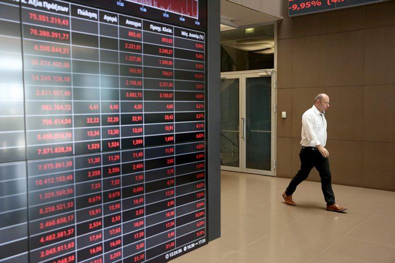 Με «βουτιά» 3,92% έκλεισε το Χρηματιστήριο Αθηνών