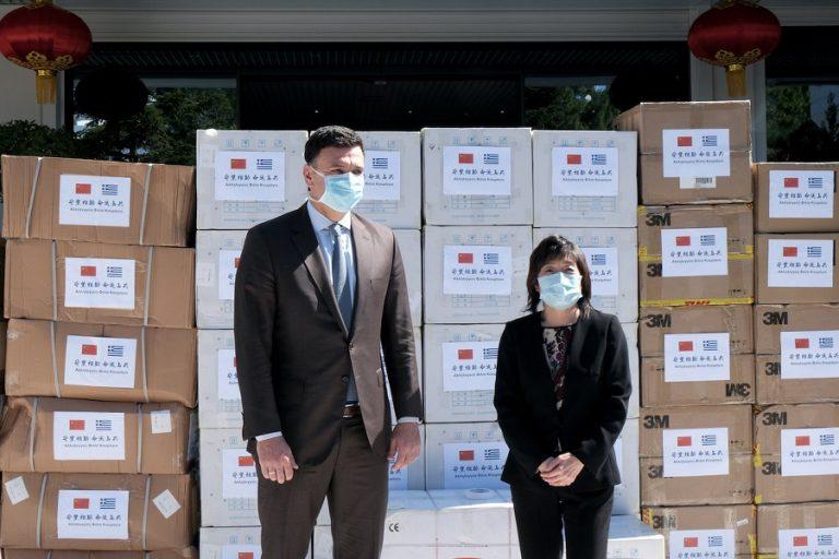 Πενήντα χιλιάδες μάσκες δωρεά από την Κίνα στην Ελλάδα