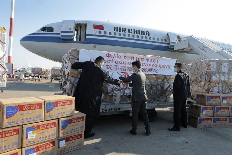 Στο «Ελ. Βενιζέλος» οι 500.000 μάσκες από την Κίνα για τα ελληνικά νοσοκομεία