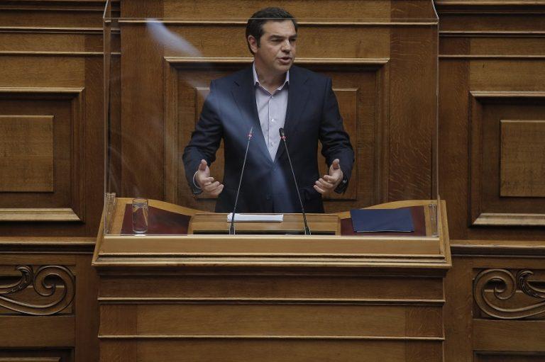 Τσίπρας (Δευτερολογία): Δεν ακούσαμε κάτι που θα μας κάνει πιο αισιόδοξους, μας είπατε ότι απλά η ύφεση θα είναι μεγάλη