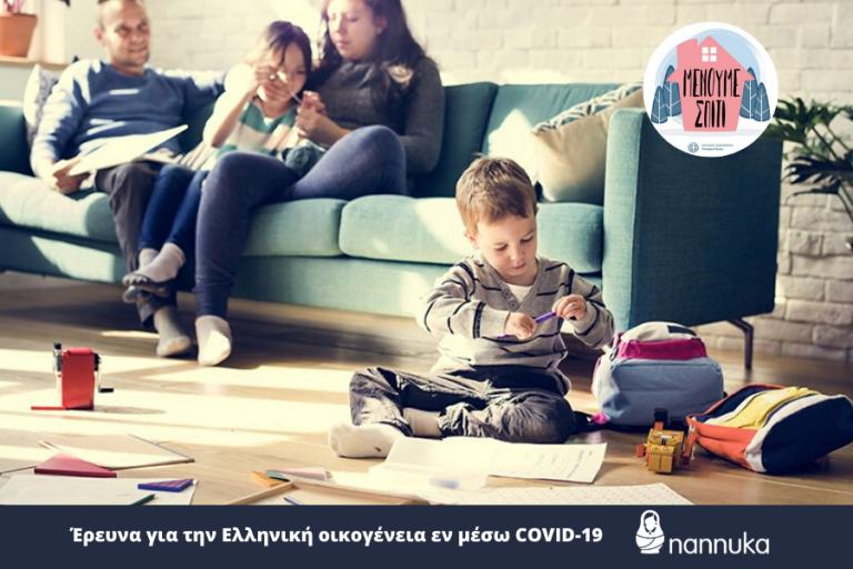 #menoumespiti: Συγκλονιστικά τα αποτελέσματα έρευνας για την νέα πραγματικότητα των οικογενειών εν μέσω κορωνοϊού