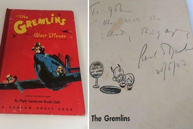Σπάνιο αντίτυπο του βιβλίου «The Gremlins» του Ρόαλντ Νταλ σε δημοπρασία