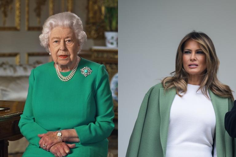 Η Μελάνια Τραμπ ακολουθεί τη βασίλισσα Ελισάβετ και ντύνεται στα πράσινα. Τι συμβολίζει όμως το χρώμα;