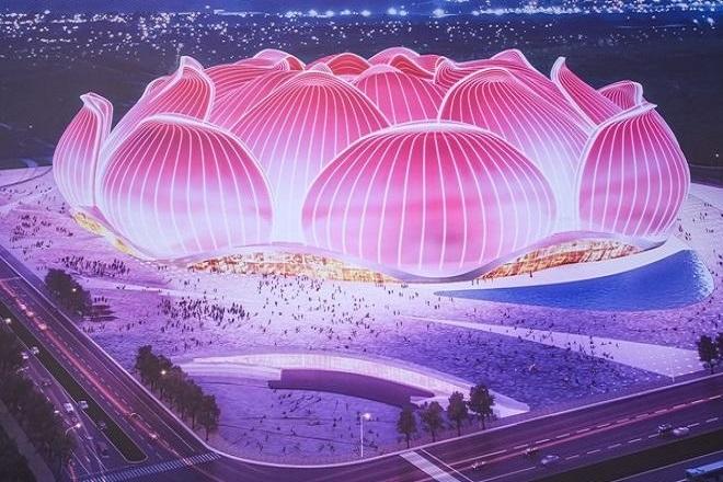 «Άνθος λωτού»: Το εντυπωσιακό βίντεο του, υπό κατασκευή, μεγαλύτερου γηπέδου ποδοσφαίρου στον κόσμο