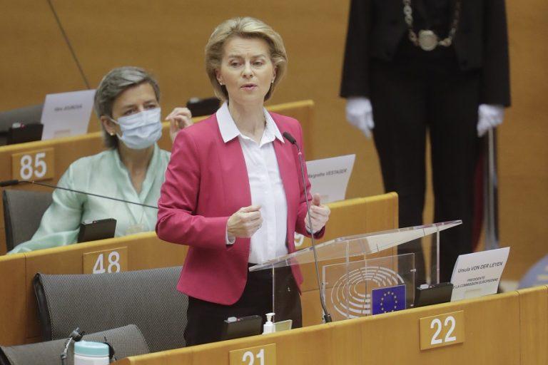 Oύρσουλα Φον Ντερ Λάιεν: Ξεπεράσαμε τα 250 εκατ. εμβολιασμούς στην ΕΕ