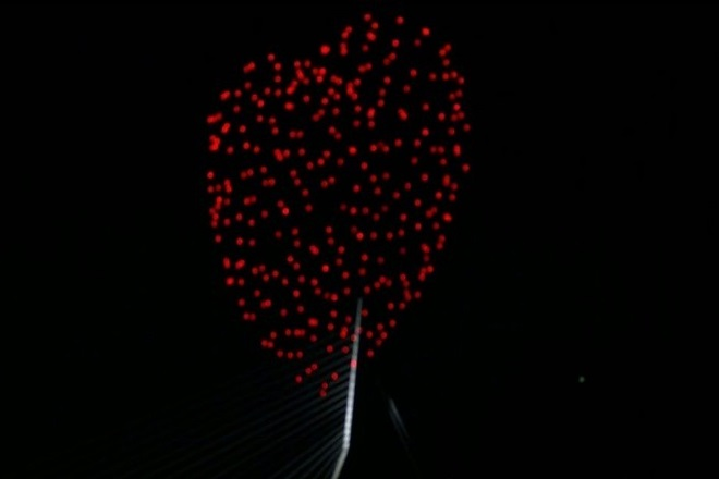 Μια καρδιά από 300 φωτεινά drones τίμησε την Ημέρα Απελευθέρωσης της Ολλανδίας