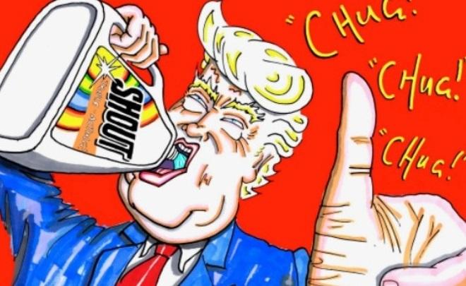 Ο Τζιμ Κάρεϊ «χτυπά» με νέες γελοιογραφίες Ντόναλντ Τραμπ και Μπόρις Τζόνσον