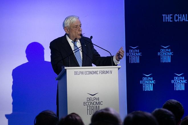 Παυλόπουλος στο φόρουμ των Δελφών: Απαραίτητη η χρηματοπιστωτική και η τραπεζική ολοκλήρωση της ΕΕ