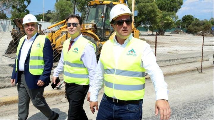 Ο Άδ. Γεωργιάδης στο εργοτάξιο της Lamda Development στο «Ελληνικό»: Πάνε όλα γρήγορα και όπως τα θέλαμε