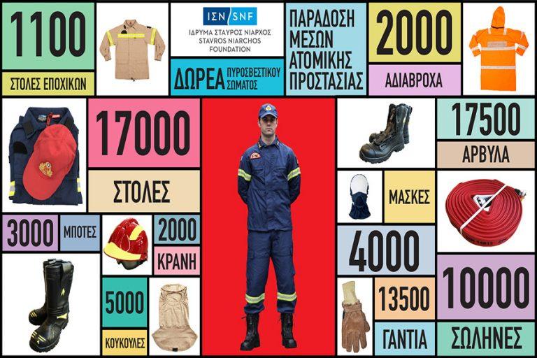 Ολοκληρώνεται μέρος της δωρεάς 25 εκατ. ευρώ του ΙΣΝ προς το Πυροσβεσικό Σώμα