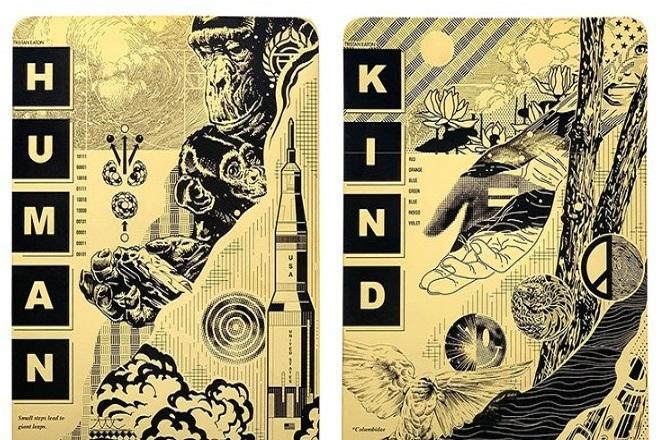 «Human Kind»: Δεν ταξίδεψαν μόνο αστροναύτες στο διάστημα με τον πύραυλο του Έλον Μασκ, αλλά και έργα τέχνης