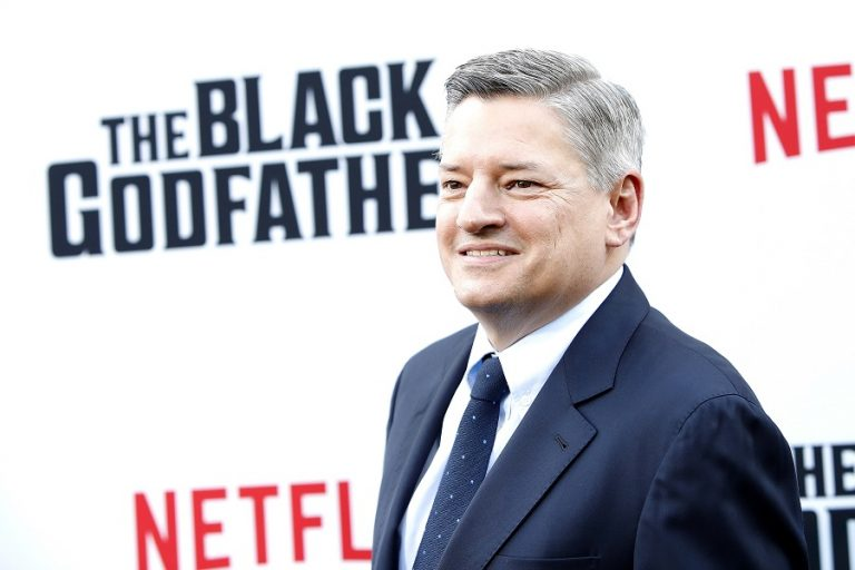 epa07623984 Netflix CEO Ted Sarandos arrives for the world premiere of 'The Black Godfather' at the Paramount Theater in Hollywood, Los Angeles, California, USA, 03 June 2019. The movie opens globally 07 June 2019. EPA/NINA PROMMER