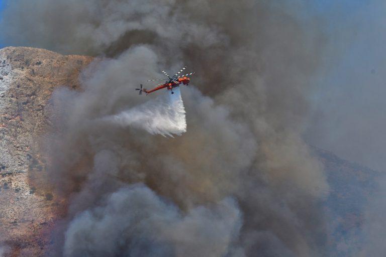 Φωτιά στην Κέα- Έρχονται ενισχύσεις από Λαύριο