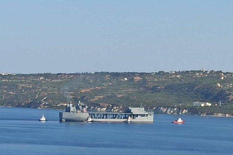 Στη Σούδα το τεράστιο ελικοπτεροφόρο USS Hershel «Woody» Williams- Η «υποδοχή» Πάιατ