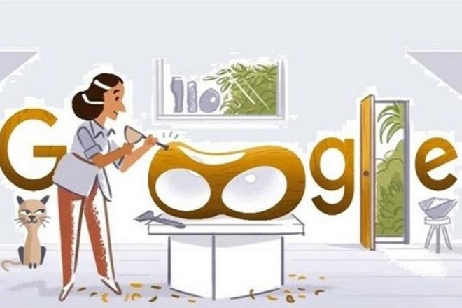 H Google τιμά με το σημερινό της doodle τη γλύπτρια Μπάρμπαρα Χέπγουορθ