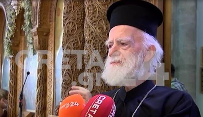 Επικίνδυνο κήρυγμα από τον Αρχιεπίσκοπο Κρήτης: «Μη φοράτε μάσκες»
