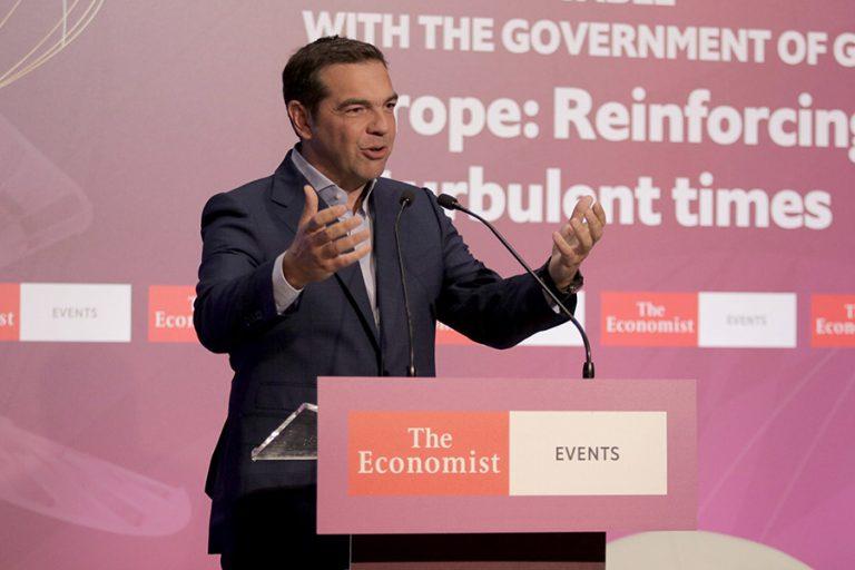 Αλ. Τσίπρας στο συνέδριο του Economist: Η ανανέωση του ΣΥΡΙΖΑ ήταν αναγκαία. Πρέπει να σκεφτόμαστε «έξω από το κουτί»