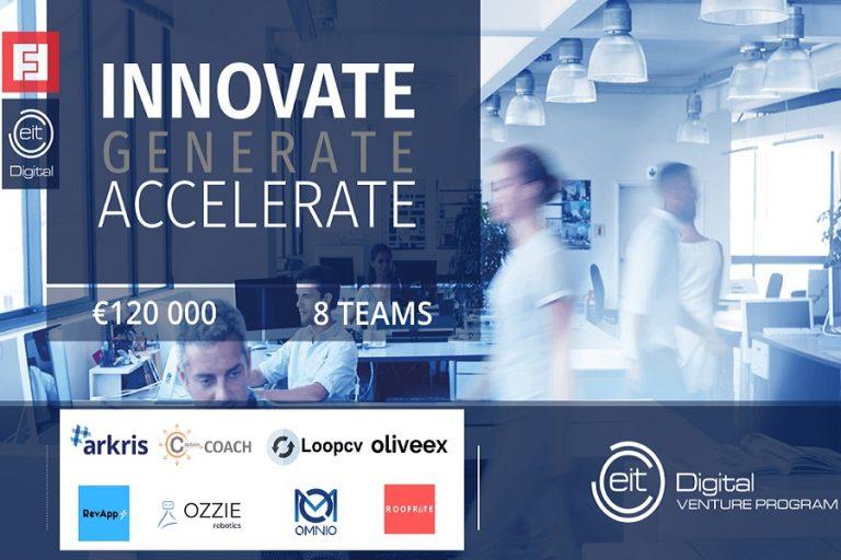 Οκτώ startups έλαβαν 120.000 ευρώ μέσω του EIT Digital Venture Program