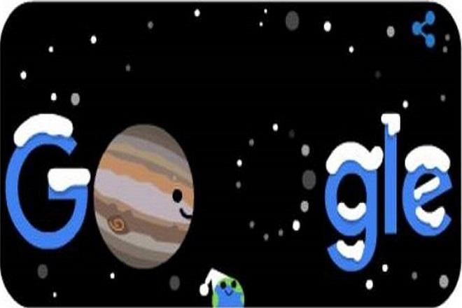 Χειμώνας και μεγάλη σύζευξη Δία-Κρόνου: «Γιορτάζει» διπλά το σημερινό doodle της Google